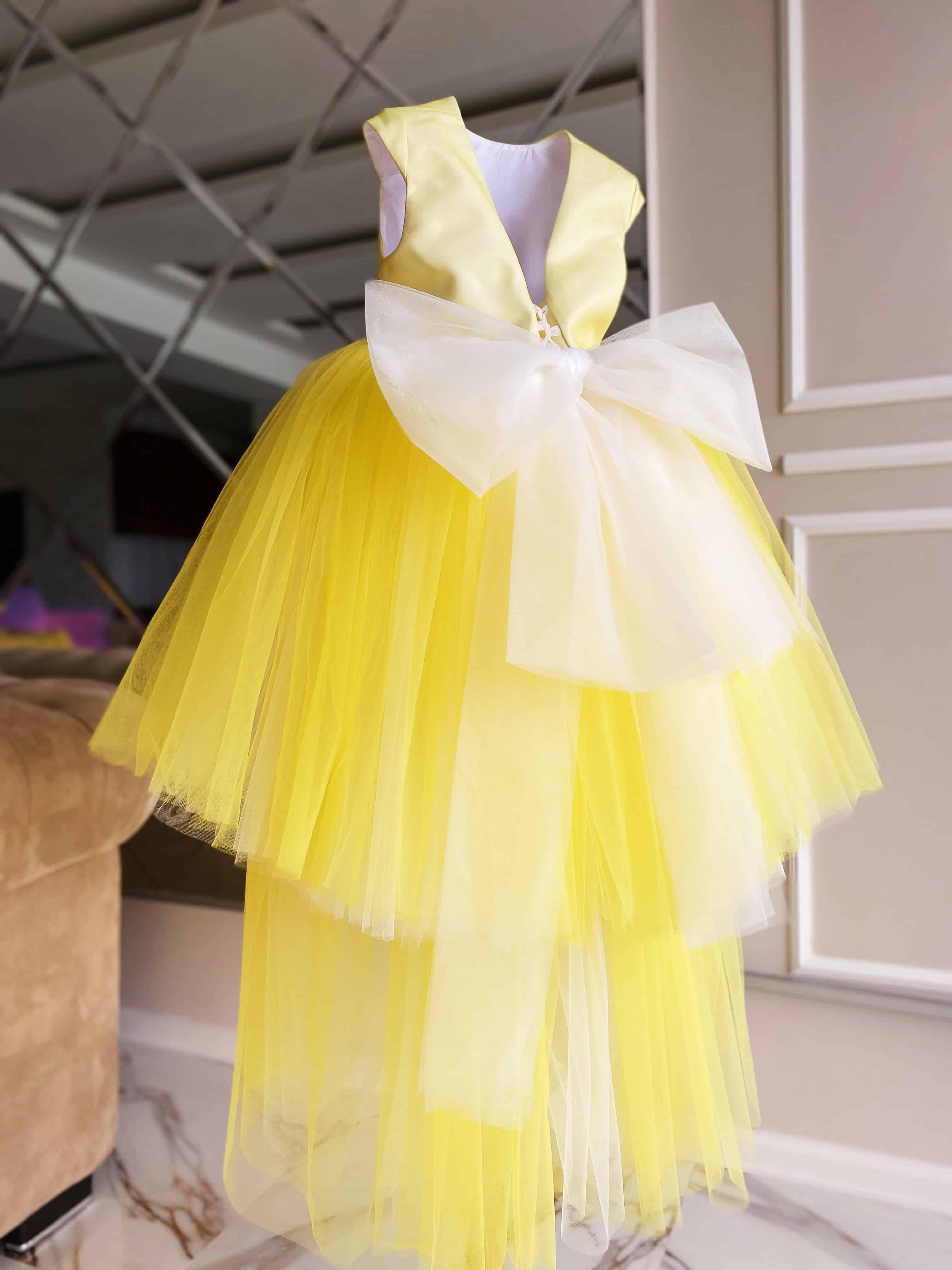 """Kate Dress"" ყვითელი თეთრში #84"