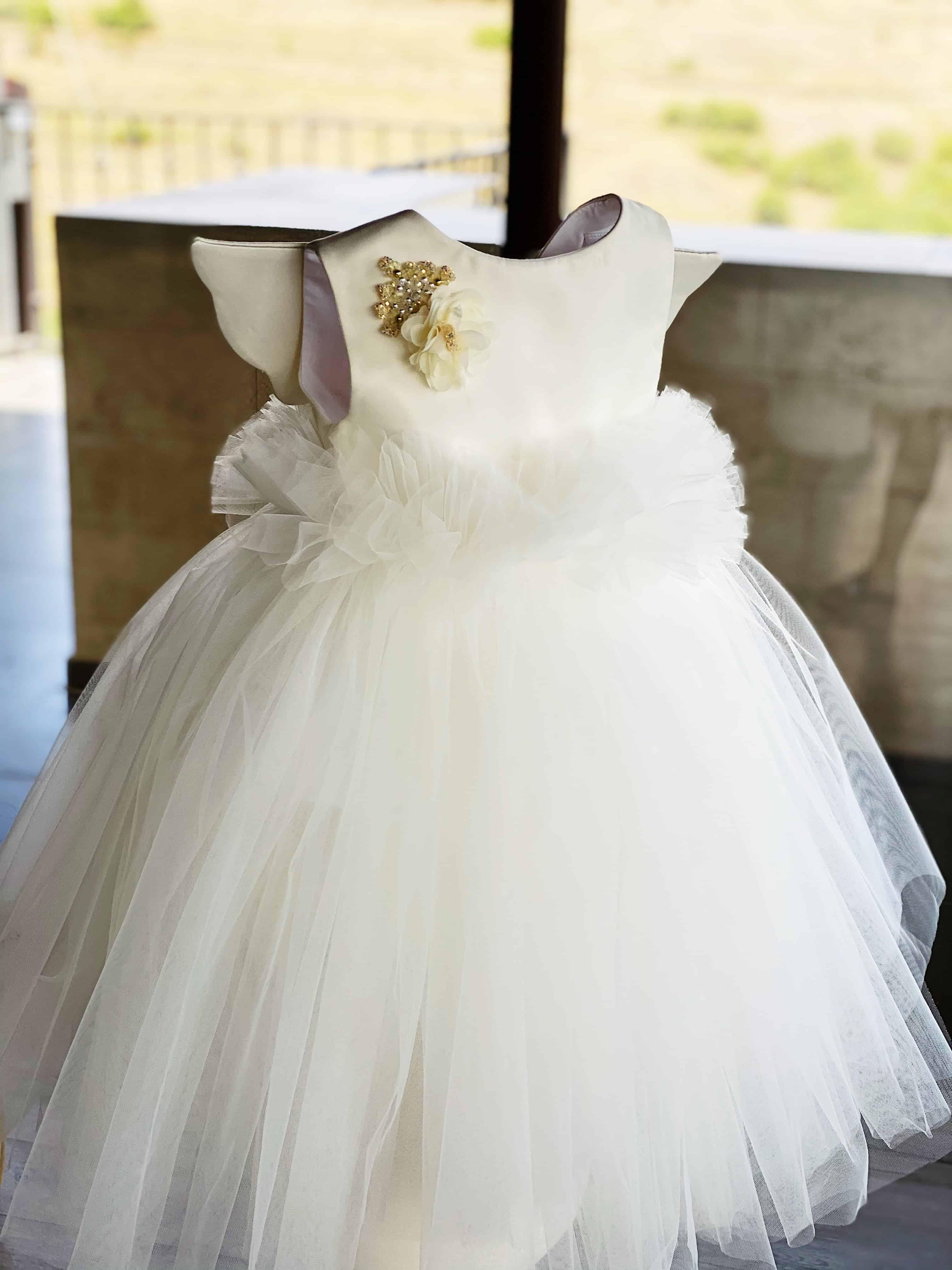 """""""Angel dress"""" ფრთებით თეთრი #81"""
